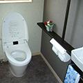 機能充実、落ち着けるトイレ