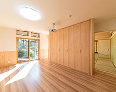 洋間の寝室写真